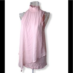 IZ Byer Pink Sleeveless Blouse Womens size S